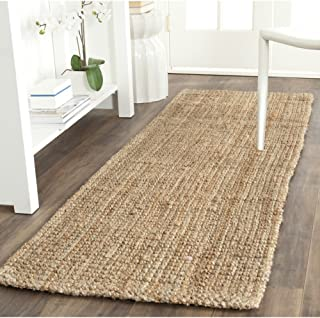 "Safavieh Natural Fiber Collection NF747A Hand Woven Natural Jute Runner (2'3"" x 9')"