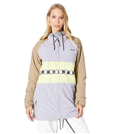 Burton Loyle Coaches Jacket (Lilac Gray/Timber Wolf/Sunny Lime) Women
