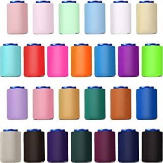 26 Pieces Can Sleeves Cooler Blank Can Koozies Poly Foam Beer Can Collapsible Insulators Set in 26 Colors