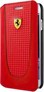cover iphone 7 & 8 leather withe carbon folio red