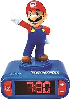 Réveil Nintendo Super Mario pour Enfant - Effets sonores - Horloge Réveil Garçons Superhéros - avec Snooze- Bleu / Rouge -...