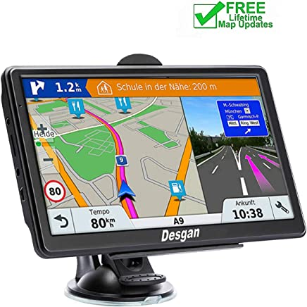 GPS Navigation for Car, 7-inch 8GB HD GPS Navigator , Voice Smart Reminder, Driving Alert,with Sun Visor&Free Lifetime Map