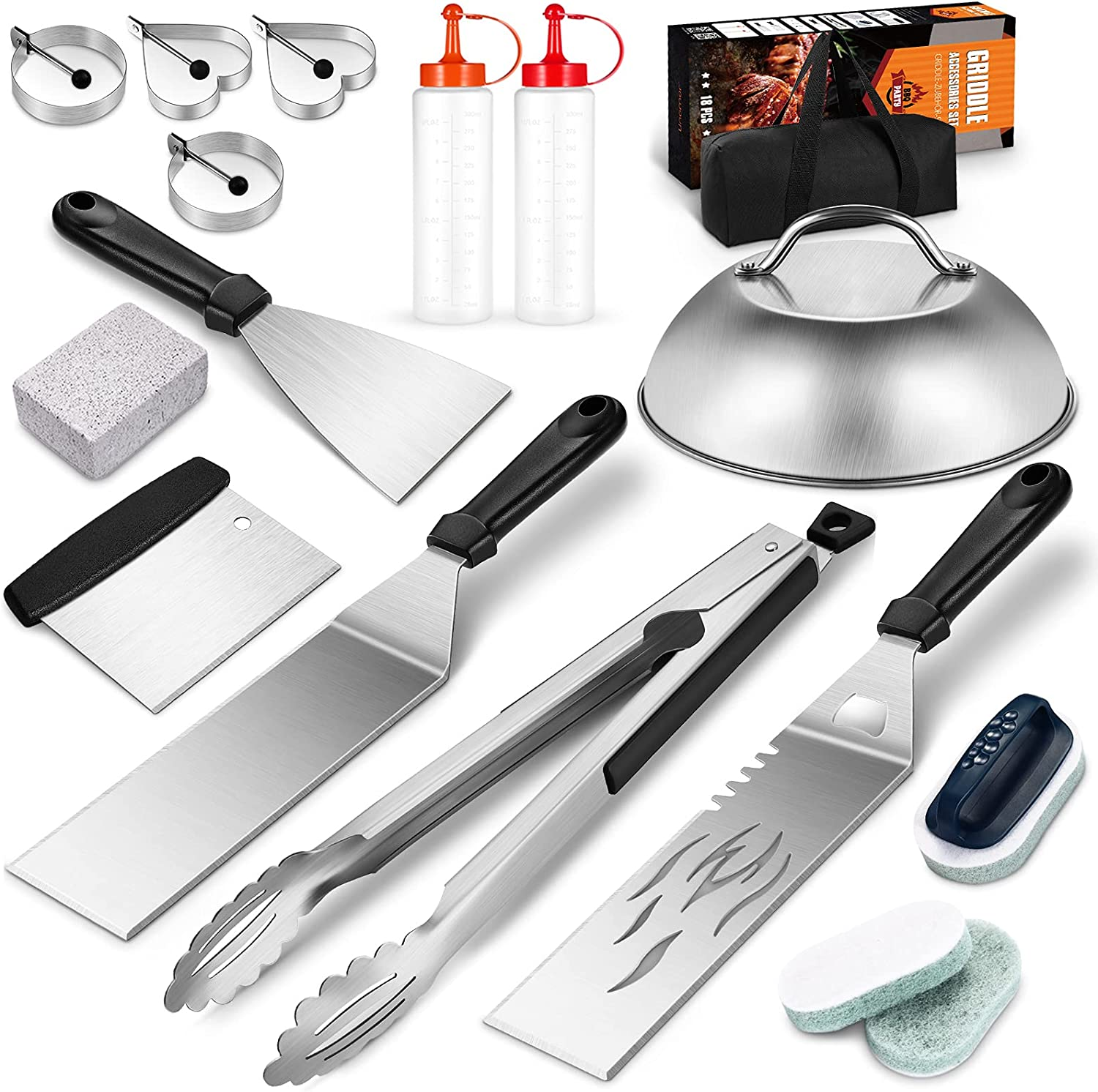 Now on sale VALICLUD Quality inspection 18pcs Barbecue Tool Sets Accessories for Grill Outdoor