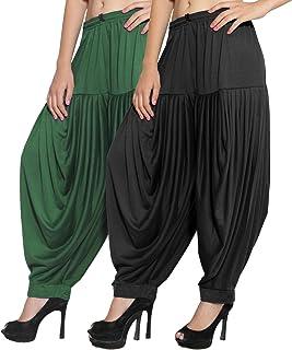 CRAFTSTRIBE Women's Punjabi Patiala Salwar Viscose Lycra Baggy Combo Trouser Dhoti