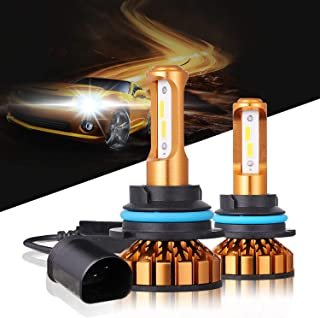9004 LED Headlight Bulbs 50W 10000 Lumens 6000K Xenon White Extremely Bright COB Chips Error-free Led Conversion Kit Motorcycle and Car Headlight by Max5-2 Yr Warranty