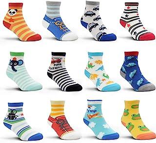 12 pares de calcetines antideslizantes para bebés, niños y niñas de 1 a 3 años (12 – 36 meses) o de 3 a 5 años