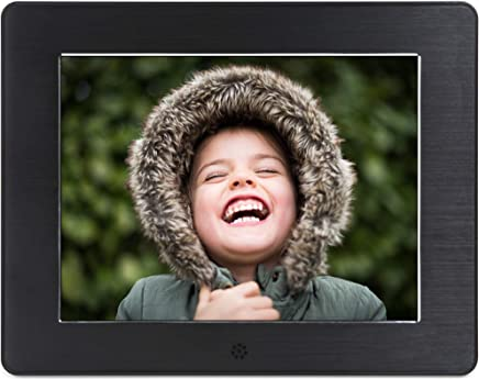 Micca 8-Inch Digital Photo Frame High Resolution LCD, MP3 Music 1080P HD Video Playback, Auto On/Off Timer (Model: N8, Replaces M808z)
