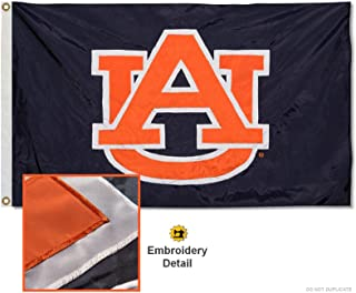 College Flags & Banners Co. Auburn Tigers Embroidered and Stitched Nylon Flag