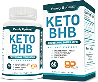 Premium Keto Diet Pills - Utilize Fat for Energy with Ketosis - Boost Energy & Focus, Manage Cravings, Support Metabolism...