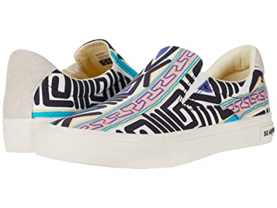 SeaVees Hawthorne Slip-On Hoffman (Black Neon Stripe) Women