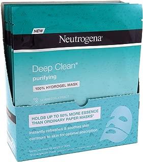 Neutrogena Deep Clean Purify Hydrogel Mask 1 Ounce (12 Pieces) (30ml)