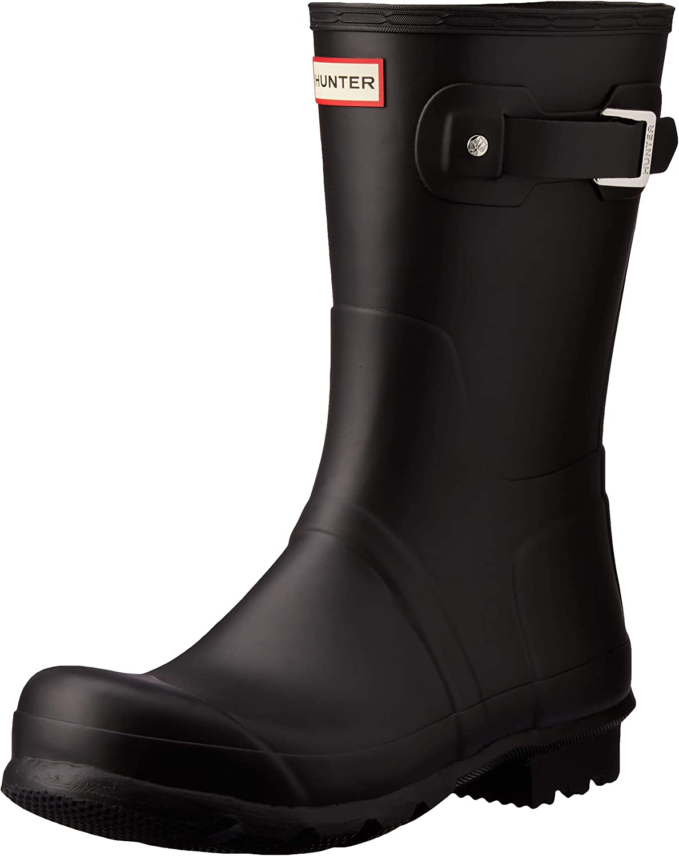 HUNTER Original Short Rain Boots Popular popular Men's Black M Max 85% OFF US 9