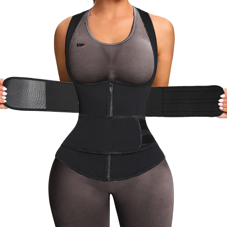 Sauna Waist Trainer Vest For Women Double Contr Sweat 70% OFF Max 73% OFF Outlet Tummy Suit