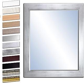 glasshop24 Badezimmer-Spiegel Wandspiegel Bad-Spiegel Silber Hochglanzpolierte Kanten Spiegel ohne Rahmen Spiegel zum Aufh/ängen BxH 60x80 cm