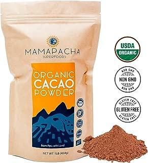Cacao Powder Raw Organic - 1Lb (454g) | Premium Grade Unsweetened Cocoa Powder | USDA | All Natural Organic Cacao Powder | Low Carb - Keto Chocolate | Organic Cocoa Powder