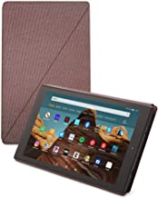 Fire HD 10 Tablet (64 GB, Plum, With Special Offers) + Amazon Standing Case (Plum) + 15W USB-C Charger