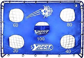 Best Sporting Unisex_vuxen Fußballtor Goal Blau mit Torwand, 213 x 152 cm fotboll skytte hål, 5-blå, inklusive
