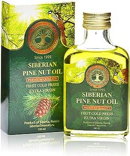 Siberian Pine Nut Oil 100 Ml, Premium Quality, Extra Virgin, First Cold Press – 3.4 Fl Oz