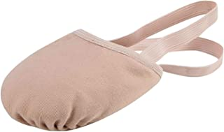 Linodes Canvas Pirouette Half Sole Jazz Ballet Dance Shoe Turning Shoes for Women and Girls