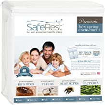 SPLIT CAL KING SafeRest Premium Box Spring Encasement - Lab Tested - 100% Bed Bug, Dust Mite and Waterproof - Vinyl Free - (Includes 2 Encasements Needed For SPLIT CAL KING Box Springs)