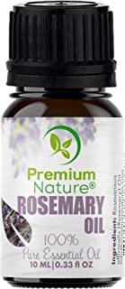 Organic Aromatherapy Rosemary Essential Oil - 100% Pure Rose Mary Essential Oil for Hair, Skin and Diffuser Best Therapeutic Grade Essential Oils (10mL) (Rosemary)
