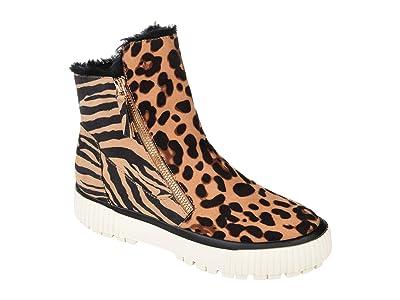 Journee Collection Comfort Foamtm Jezzy Wedge Bootie (Leopard) Women