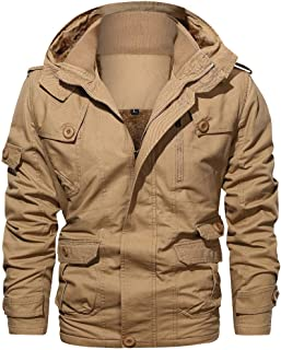 Sunward Men Coat Jacket Winterwear,Men's Fashion Jacket Pure Color Zipper Stand Collar Outwear Breathable Coat Tops