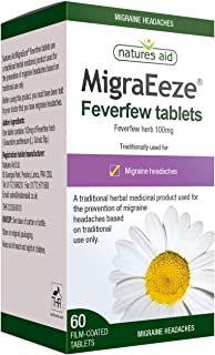 Natures Aid 100 mg MigraEeze Feverfew by Natures Aid