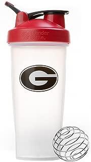 BlenderBottle Collegiate Classic 28-Ounce Shaker Bottle, University of Georgia Bulldogs - Clear/Red
