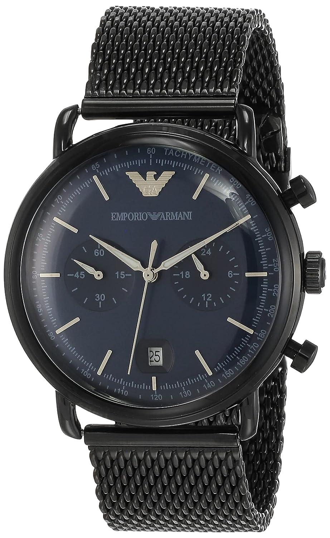 Emporio Armani Aviator Analog Black Dial Men's Watch - AR11104