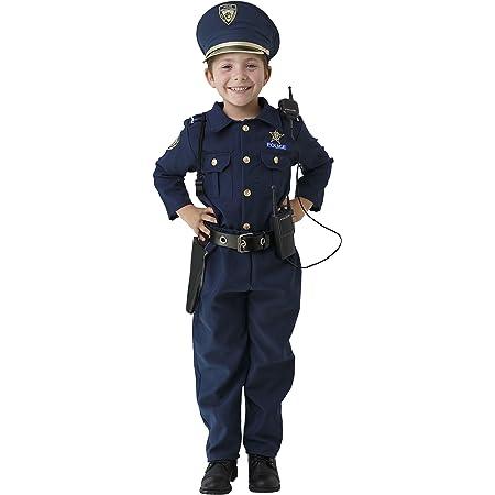 Dress Up America Costume de police pour garçons - chemise, pantalon, chapeau, ceinture, sifflet, étui de pistolet et ensemble de flic talkie-walkie.