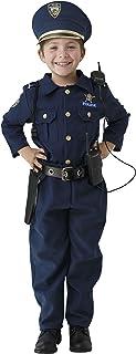 Dress Up America Costume de police pour garçons - chemise, pantalon, chapeau, ceinture, sifflet, étui de pistolet et ensem...