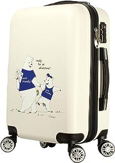 306日本初 数限定 オリジナル 白熊 キャラクター キャリーバッグ かわいい スーツケース s m サイズ おしゃれ レディース キャリーバック s キャリーケース
