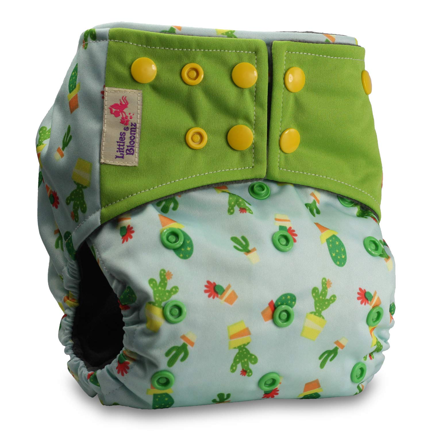 Pattern 11 Reusable Pocket Real Cloth Nappy Washable Diaper Bamboo Charcoal with 2 Bamboo Inserts Littles /& Bloomz