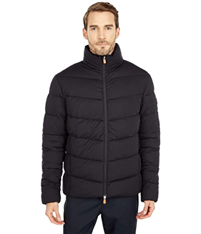 Save the Duck Sealy Hooded Stretch Puffer Jacket (Black) Men