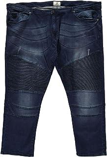 D555 Jeans Denim Abrams Biker Mens Trouser Pants Dark Vintage