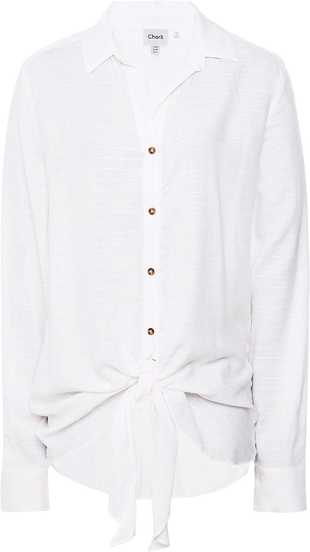 Charli Women's Veronica Tie Hem Shirt White