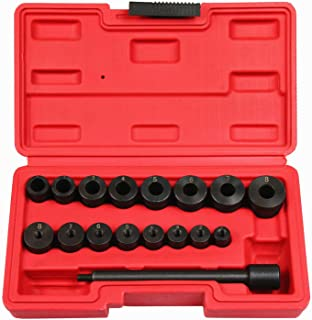 Highking Tool 17pc Universal Clutch Aligning Kit Flywheel Pilot Hole and Clutch Drive Plate Alignment Tool
