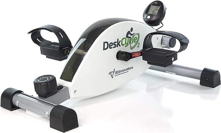 DeskCycle 2 Under Desk Bike Pedal Exerciser with Adjustable Leg - Mini Exercise Bike Desk Cycle, Leg Exerciser for Physical Therapy & Desk Exercise