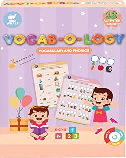 Miniwhale Vocab-O-Logy Toys For Kids 4 Years, Creative Fun Puzzles Wipe Clean Educational and Learning Activity Game On Co...