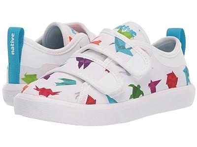 Native Kids Shoes Monaco HL Canvas (Toddler/Little Kid) (Shell White/Shell White/Origami) Kid