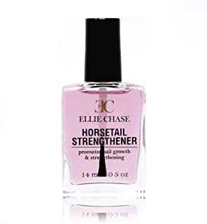 Ellie Chase Nail Strengthening & Growth Nail Polish Treatment With Horsetail Grass Extract, 0.5 Fl oz - No Formaldehyde, Toluene or DBP - Can Be Used as Base Coat or Top Coat