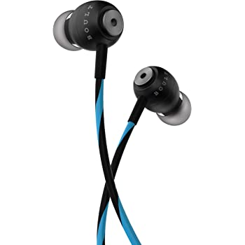 Boult Audio BassBuds Storm-X in-Ear Wired Earphones with Mic and Full Metal Body for Extra Bass & HD Sound with Passive Noise Cancellation (Blue)