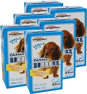 ドギーマン わんちゃんの国産低脂肪牛乳 1000mL×6個 (ケース販売)