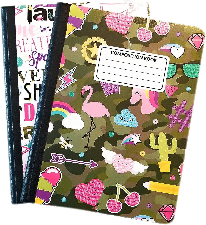 Camo süßen Zusammensetzung Notebooks – Set von 2 camouflage B07FK3Z6QD  | Charmantes Design