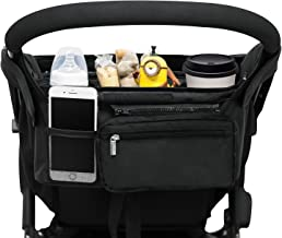 Best Universal Stroller Organizer with 2 Insulated Cup Holders, Lupantte Stroller Accessories, for Carrying Diaper, iPhone, Toys & Snacks, Fits Britax, Uppababy, Baby Jogger, Bugaboo and BOB Stroller. Review
