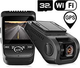 Pruveeo 112GW FHD 1080P Dash Cam, Built-in WiFi GPS, Dash Camera for Cars with Sony Sensor 170-degree Wide Angle 2.4-inch LCD