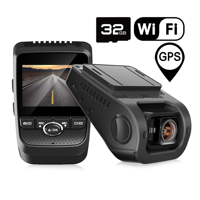 Discreet Design Dash Camera 170 Wide Angle Pruveeo F5 1080P Dash Cam with WiFi