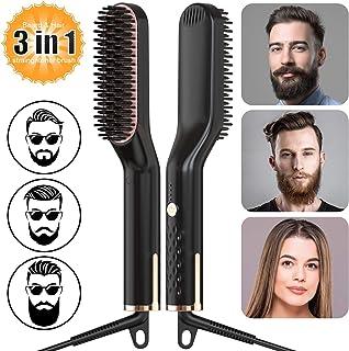 BIKUUL Fast Beard Comb,Smooth Hair Comb, Electric Heated Beard Straightener Comb, brush Straightener,Portable Beard Straig...