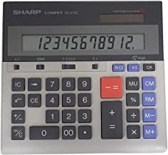 Sharp QS-2130 12-Digit Commercial Desktop Calculator with Kickstand, Arithmetic Logic, Battery and Solar Hybrid Powered LC... photo